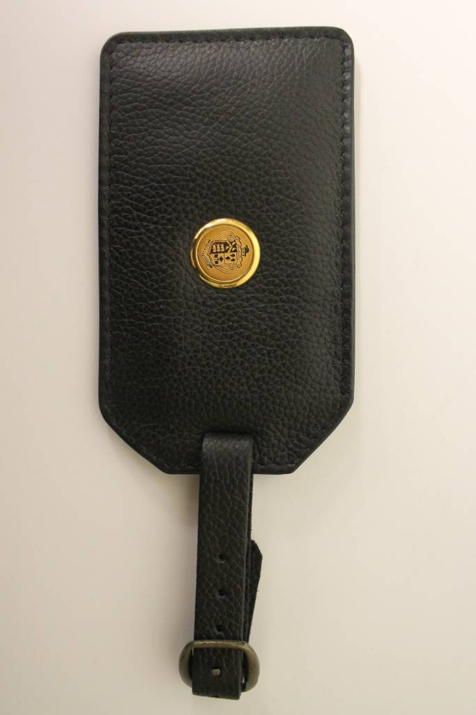 LUGGAGE LEATHER TAG-blk