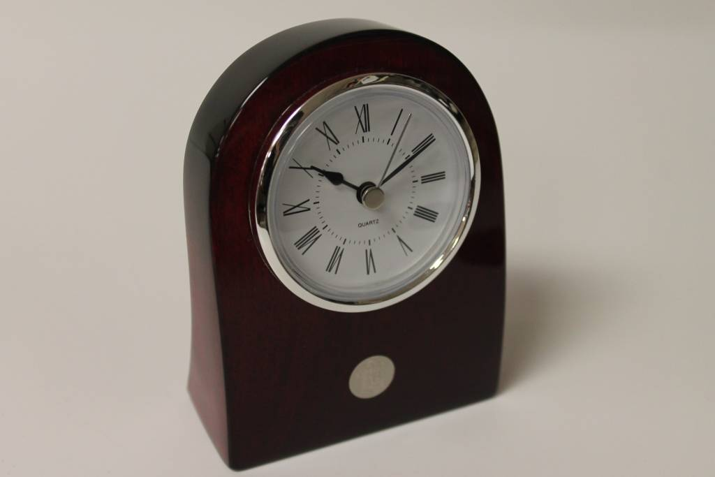 Rosewood Curved Clock (51C-Silver)