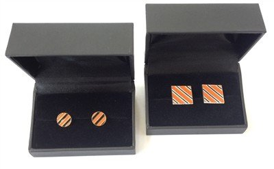 EARRINGS - CIRCLE ORANGE/BLACK