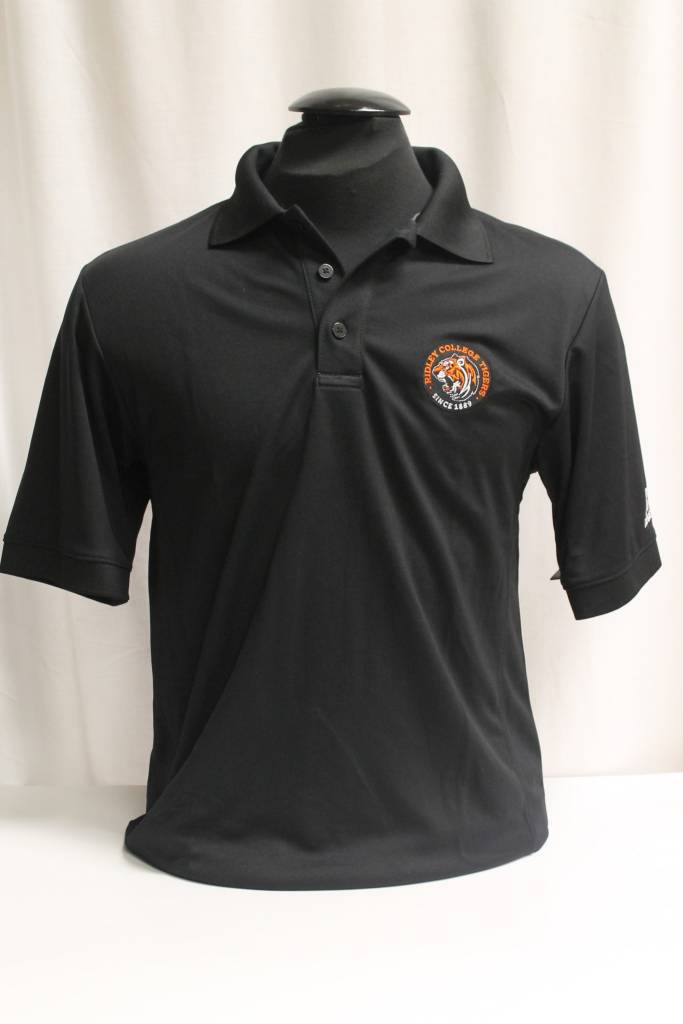 Black Polo with Athletic Logo - Med