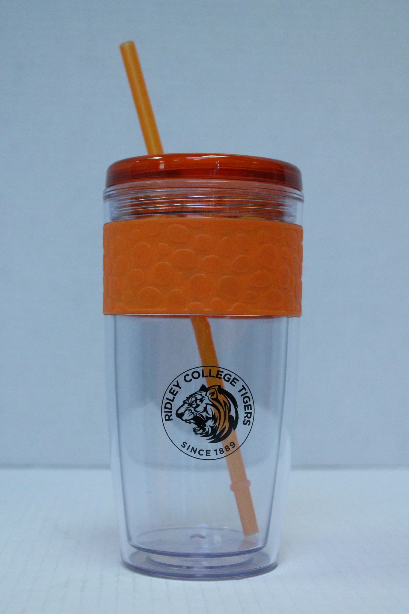 Clear Tumbler with Straw - 16oz