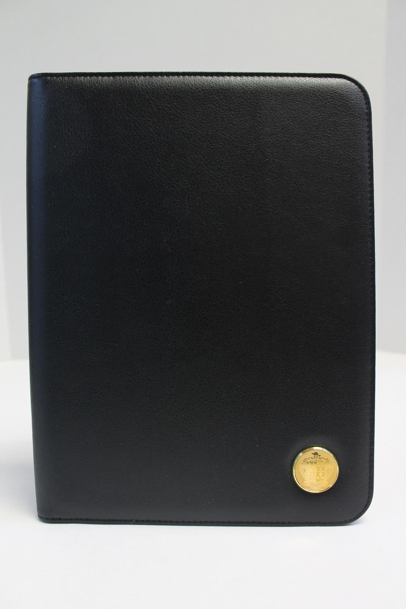 Black Leather Portfolio (16E-Gold)