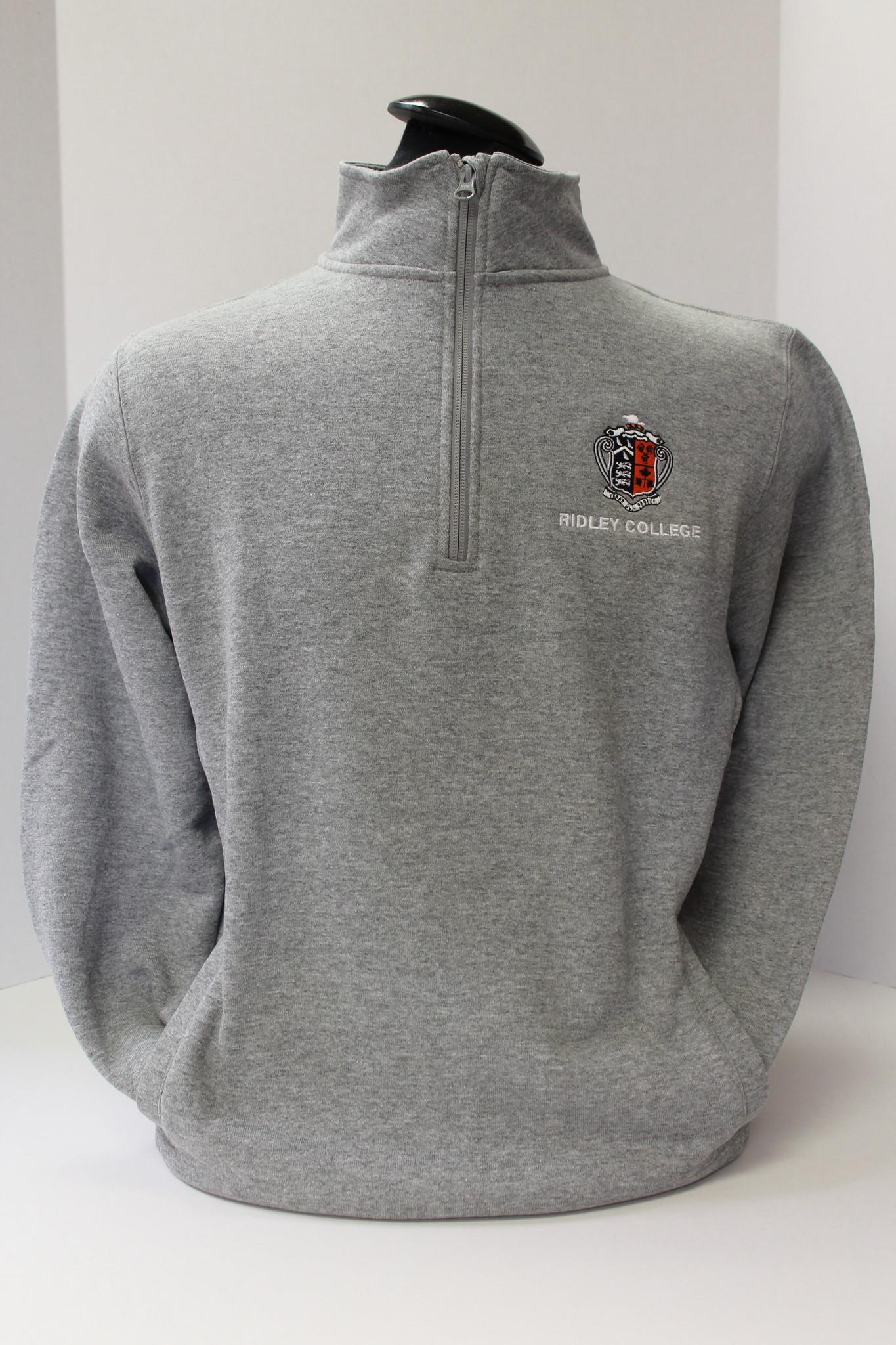 1/4 Zip Sweatshirt With Crest
