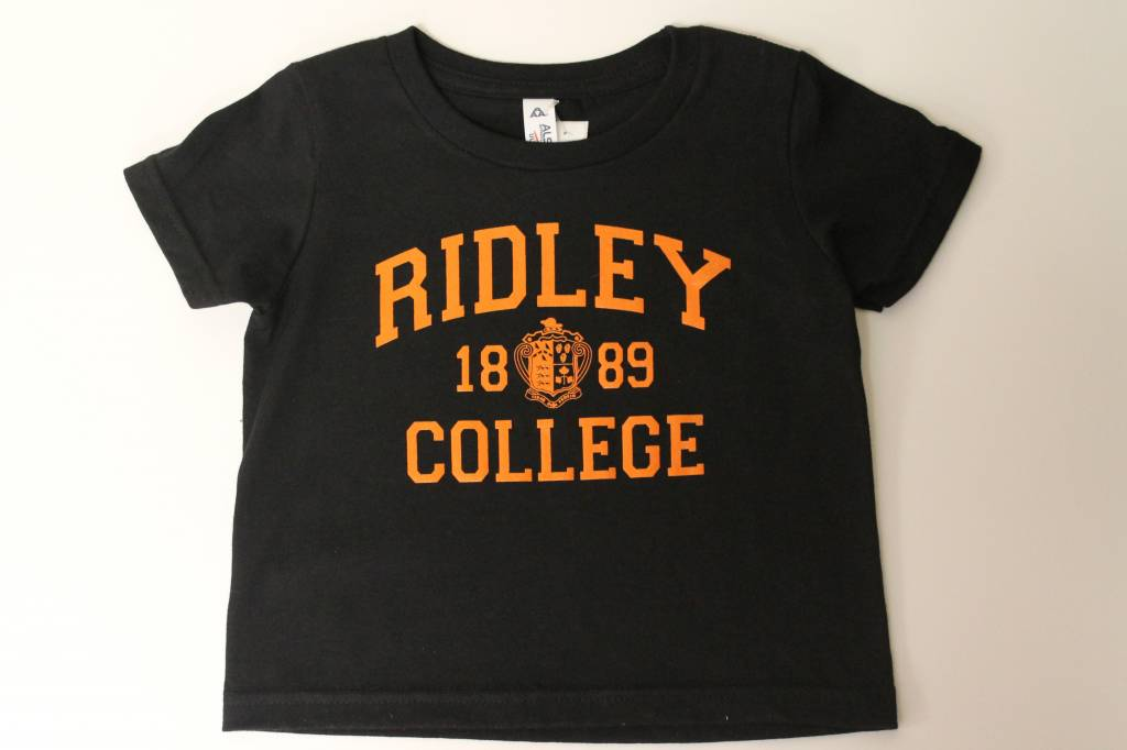 Youth Black w/orange Ridley T-shirt