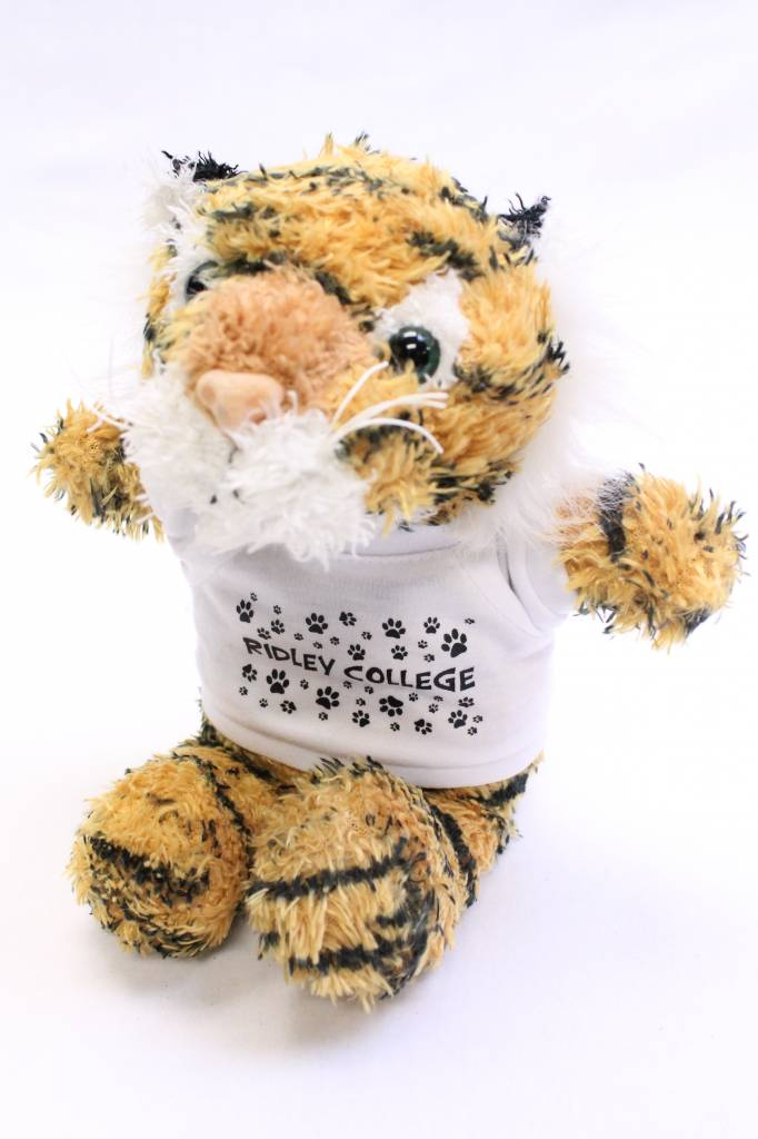 Stuffed Tiger with White T-shirt