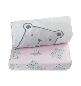Bubba Blue Bubba Blue Beary Sweet 2 Pk Cot Fitted Sheet