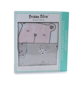 Bubba Blue Bubba Blue Beary Sweet 2 Pack Bass/Cradle Fitted Sheet