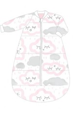 Baby Studio Baby Studio Cotton Studio Bag with Arms - 3.0 Tog Clouds - Pink