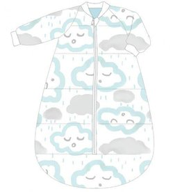 Baby Studio Baby Cotton Studio Bag with Arms - 3.0 Tog Clouds - Peppermint