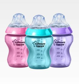 Tommee Tippee Tommee Tippee Closer To Nature 260Ml Bottle (3Pk) Girl