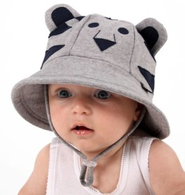 Bedhead Bedhead Lil' Tiger Baby Bucket Hat with Strap - Grey Marle