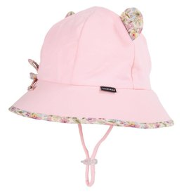 Bedhead Bedhead Paisley Trimmed Baby Bucket Hat with Strap - Blush