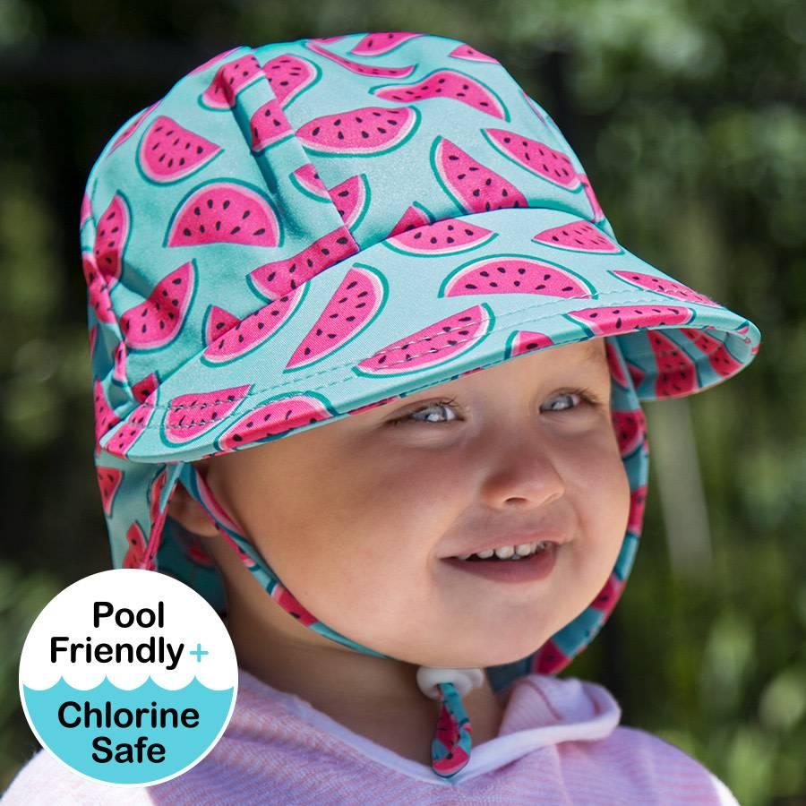 Bedhead Girls Beach Legionnaire Hat UPF50+ 'Watermelon' Print