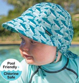 Bedhead Bedhead Boys Beach Legionnaire Hat UPF50+ 'Shark' Print
