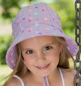 Bedhead Bedhead Girls Bucket Hat 'Ice Cream' Print - 54cm / 3-6 Years / XL