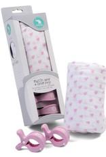 All4Ella Single Wrap Muslin & Pram Peg Box Set - Hearts