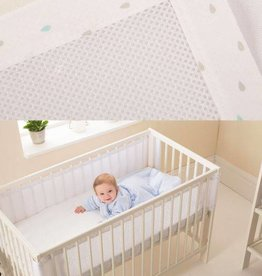 Purflo Purflo Purair Breathable Cot Bumper Tear Drop
