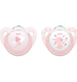 NUK Nuk 2 Pack Silicone  Baby Rose