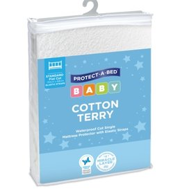 Protect-A-Bed Protect-A-Bed® Cotton Terry Cot Mattress Protector with Elastic Straps 132 x 70cm