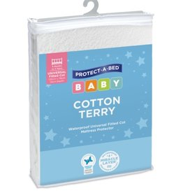 Protect-A-Bed Protect-A-Bed® Cotton Terry Cot Mattress Protector, Universal Fitted (Large)132 x 78cm (+14cm depth)