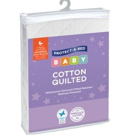 Protect-A-Bed Protect-A-Bed® Cotton Quilted Bassinet Mattress Protector, Fitted (Large)