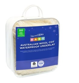 Protect-A-Bed Protect-A-Bed® Australian Wool Waterproof Standard Cot Underlay, Fitted