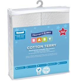 Protect-A-Bed Protect-A-Bed® Change Mat Twin Pack Covers 71 x 48 x 8 cm