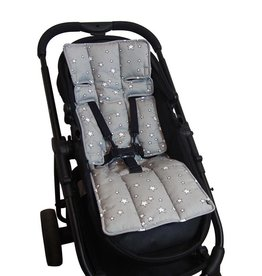 Outlook Outlook Cotton Pram Liner - Grey Stars