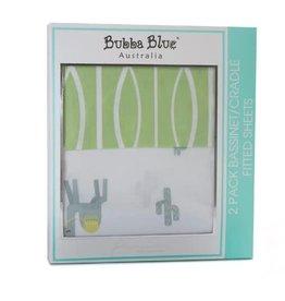 Bubba Blue Bubba Blue Sahara 2pk Bassinet/Cradle Fitted Sheet