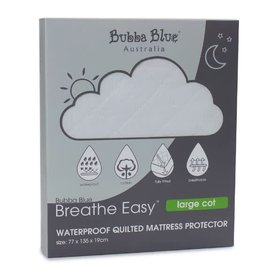 Bubba Blue Bubba Blue Breathe Easy Large Cot Quilted Mattress Protector