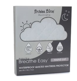Bubba Blue Bubba Blue Breathe Easy Round Cot Quilted Mattress Protector