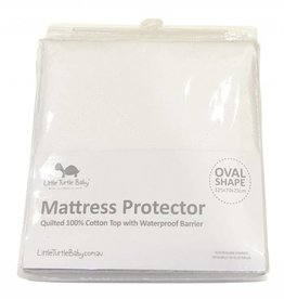 Little Turtle Little Turtle Baby OVAL Cot - Fitted Mattress Protector