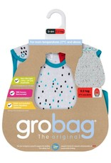 Gro Grobag Side Zip  0.2 tog XO Neon Turquoise Boy