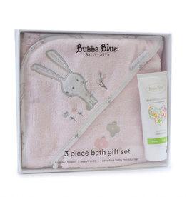 Bubba Blue Bubba Blue Bunny Hop 3pcs Bathtime Gift Set