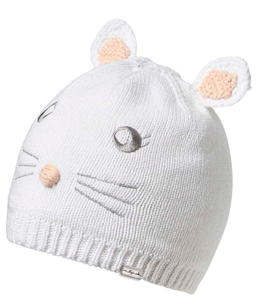 Millymook Millymook Baby Girls Beanie Bunny White S