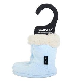 Bedhead Bedhead Fleecy Sleepy Booties - Baby Blue Marle