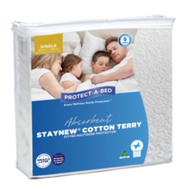 Protect-A-Bed Protect-A-Bed Staynew Smooth Cotton Terry Fitted Waterproof Mattress Protector