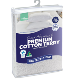 Protect-A-Bed Protect-A-Bed Premium Cotton Terry Fitted Waterproof Pillow Protector Standard (48x73cm)