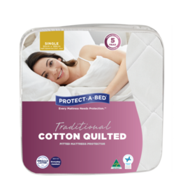 Protect-A-Bed Protect-A-Bed Cotton Quilted Fitted Waterproof Mattress Protector