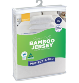 Protect-A-Bed Protect-A-Bed Bamboo Jersey Fitted Waterproof Pillow Protector Standard (48x73cm)