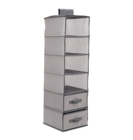 Delta Children Delta Children 6 Shelf Storage with 2 Drawers - Cool Grey