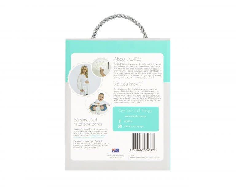 All4Ella All4Ella Personalised Milestone Cards with Marker -