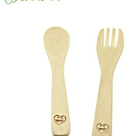 Haaka Haakaa Bamboo Spoon & Fork Set- Pack of 2