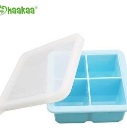 Haaka Haakaa Silicone Baby Food Freezer Tray with Lid- 4 Compartment