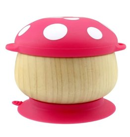 Haaka Haakaa Wooden Mushroom Bowl with Suction Base