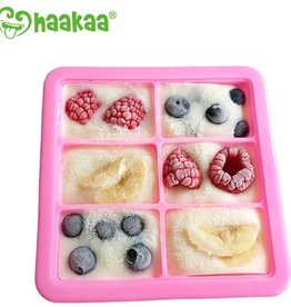 Haaka Haakaa Silicone Baby Food Freezer Tray with Lid- 6 Compartment