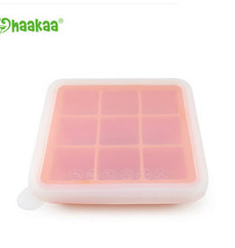 Haaka Haakaa Silicone Baby Food Freezer Tray with Lid- 9 Compartment