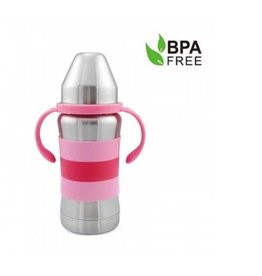 Haaka Haakaa 270ml Thermal Stainless Steel Baby Bottle- Pink