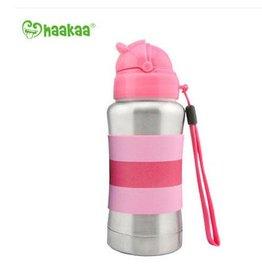 Haaka Haakaa 270ml Thermal Stainless Steel Straw Bottle- Pink
