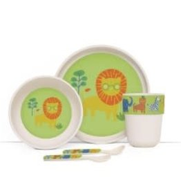 Penny Scallan Penny Scallan Bamboo Meal Time Set with Cutlery